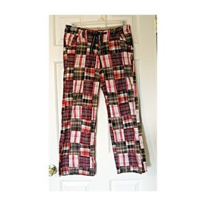 Girls Limited Too Preppy Madras Plaid Pants 14 1/2